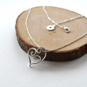 Mother's Day Necklace Silver Heart
