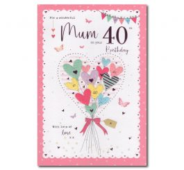 Mum 40th Birthday Card