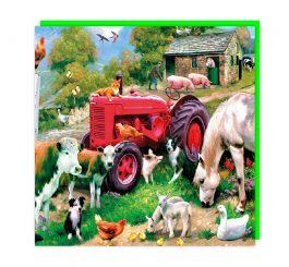 Farmyard 3D card