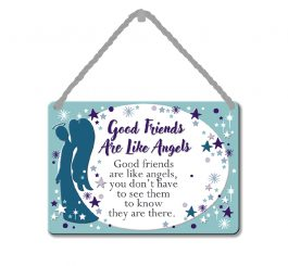 Friends are angels plaque